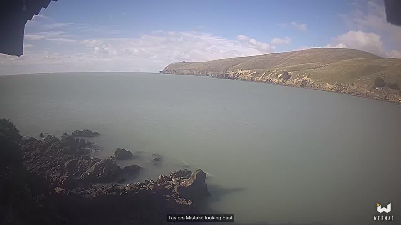 Christchurch webcam - Taylors Mistake Bay webcam, Canterbury, Banks Peninsula